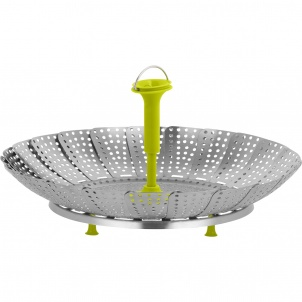 Silicone & Steel Vegetable Steamer