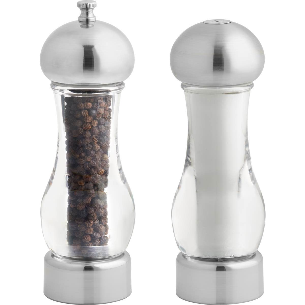 Brio Acrylic Pepper Mill & Salt Shaker Set