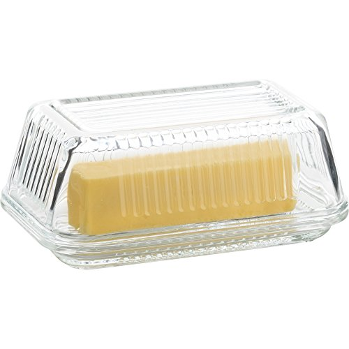 Linea Glass Butter Dish with Lid