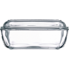 Arc Glass Butter Dish with Lid
