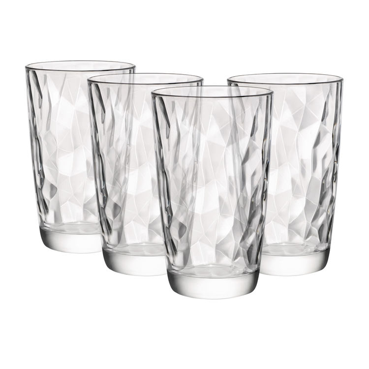Diamond Highball Tumblers 16oz | Set of 4