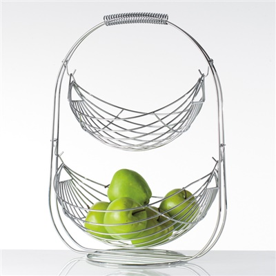 Swing 2 Tier Fruit Basket | Fruit Bowl