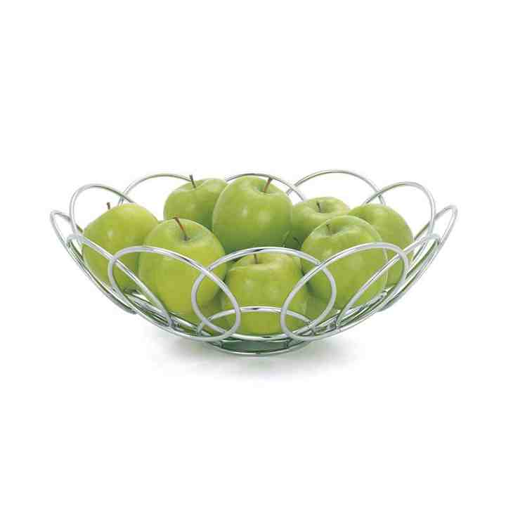 Spiral Chrome Fruit Bowl