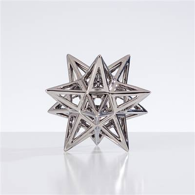 Sputnik Ceramic Decor Sculpture | Silver