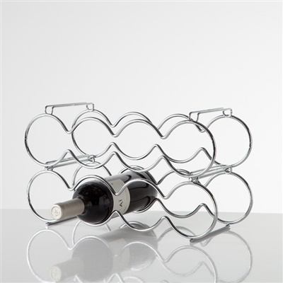 8 Bottle Stacking Wine Rack | Chrome
