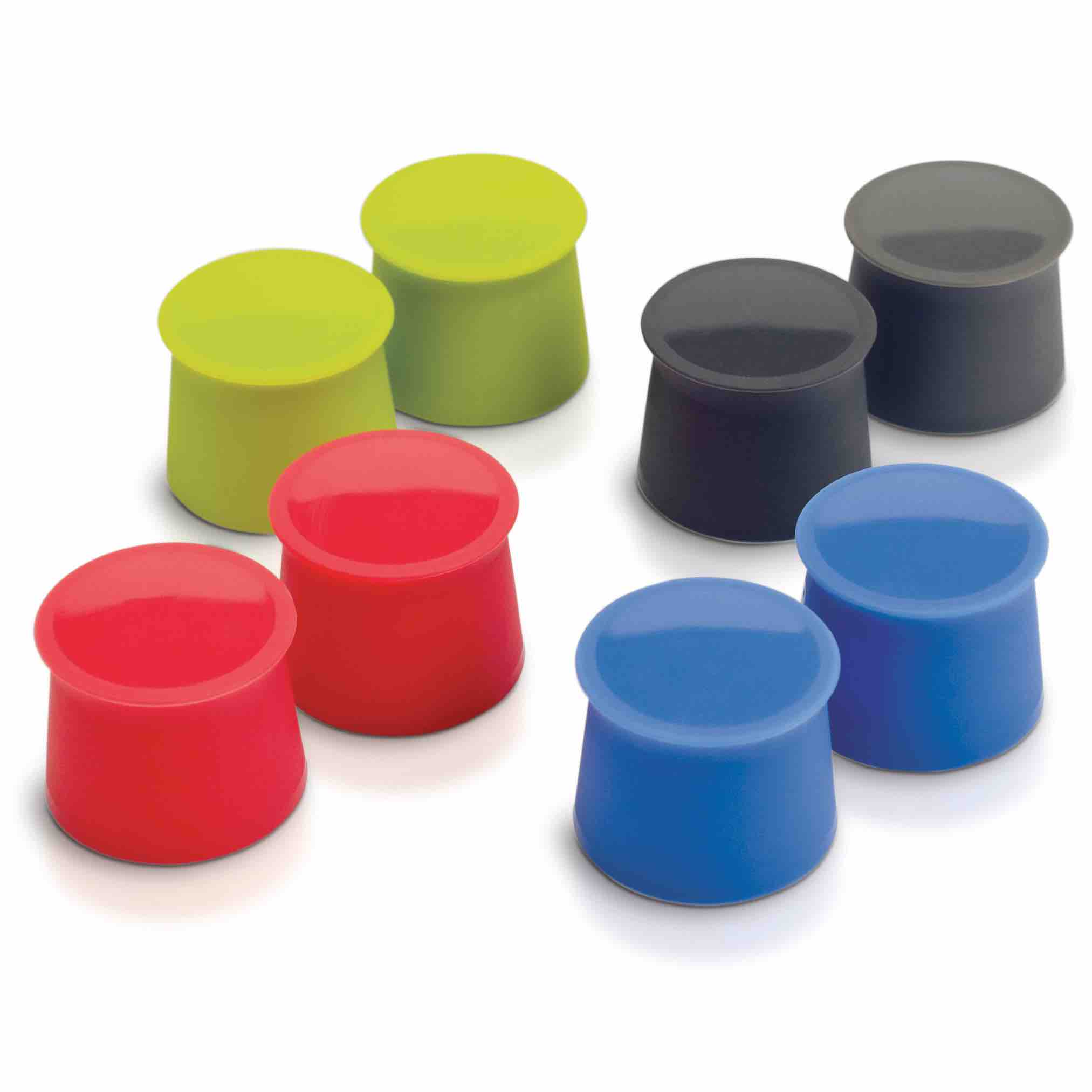 Tovolo Silicone Wine Caps | Set of 2 Stoppers | Red