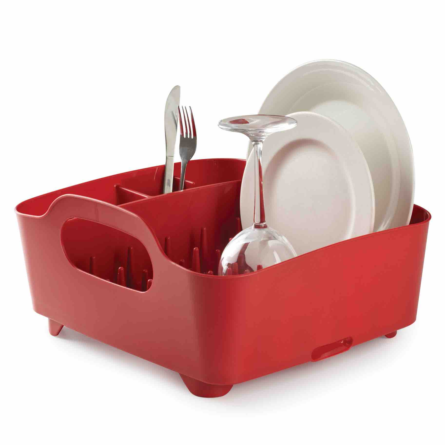 Umbra Tub Dish Rack | Red