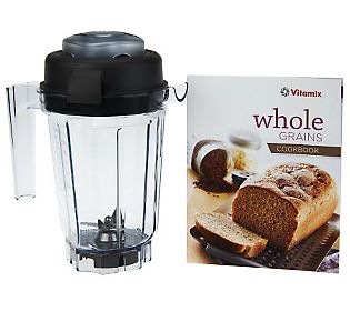 Vitamix 32oz Container with Dry Blade, Lid And Whole Grains Book