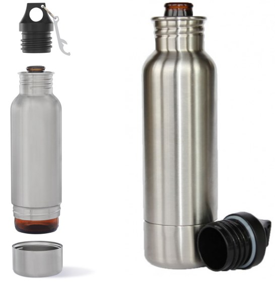 Bottle Camo | Steel Bottle Insulator with Bottle Opener