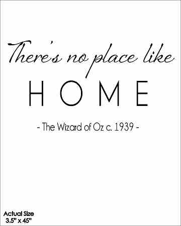 Wall Talk Quotes - There's no place like Home