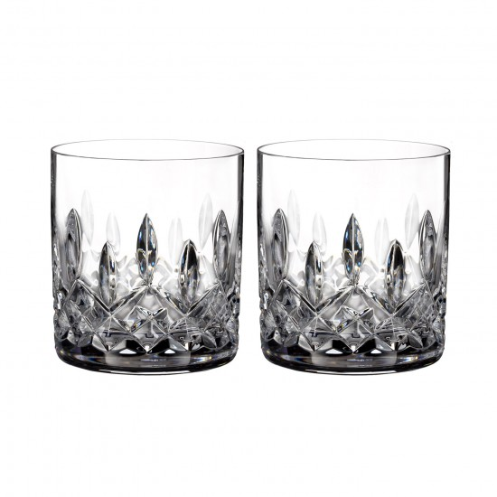 Waterford Lismore 7oz Straight Sided Whisky Tumblers - Set of 2
