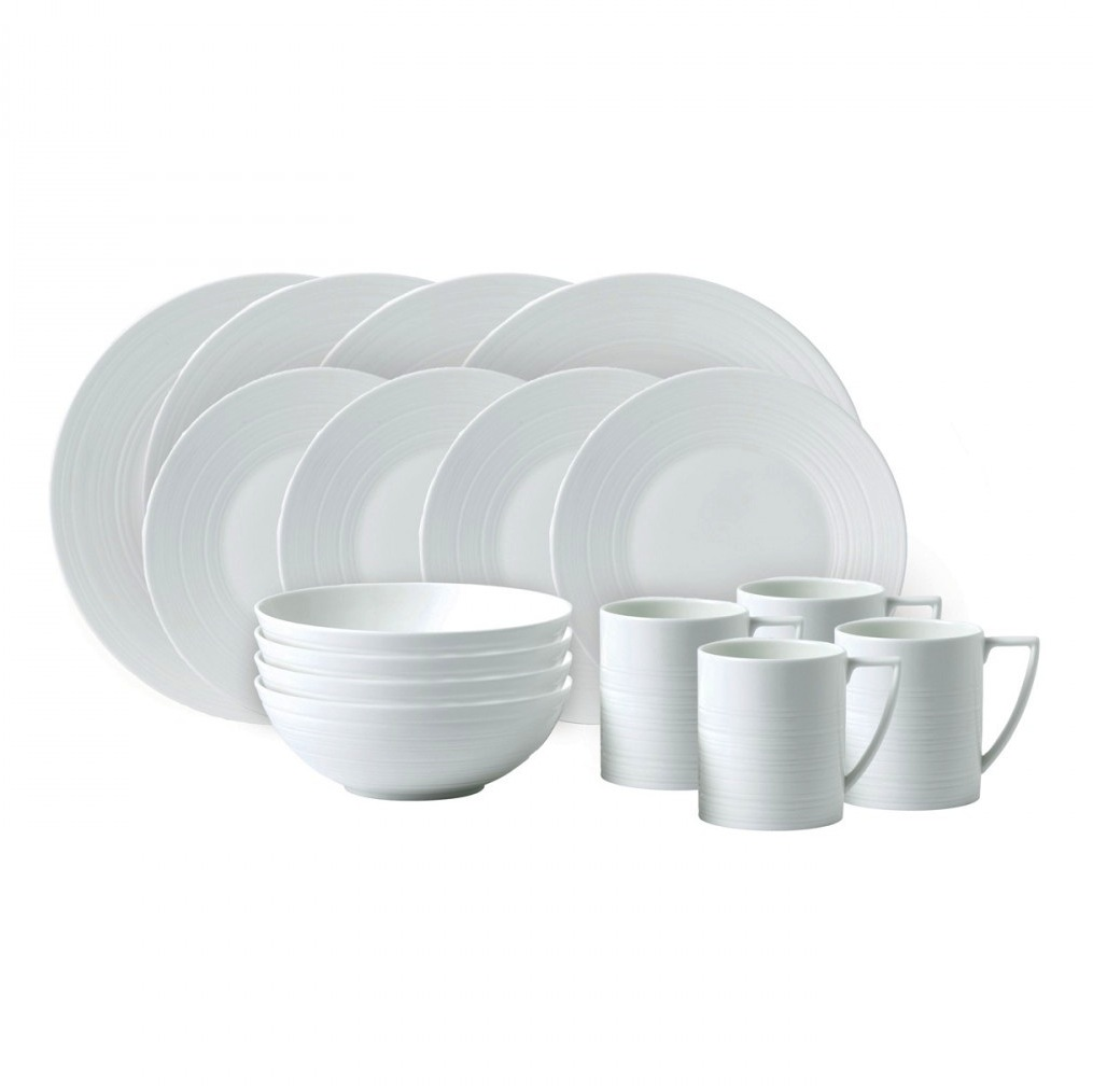 Wedgwood Jasper Conran White Strata 16pc Dinnerware Set