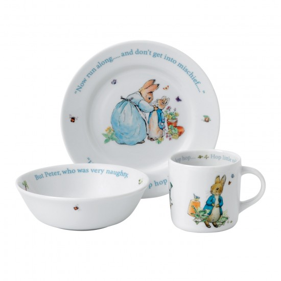 Wedgwood 3pc Peter Rabbit Set | Blue