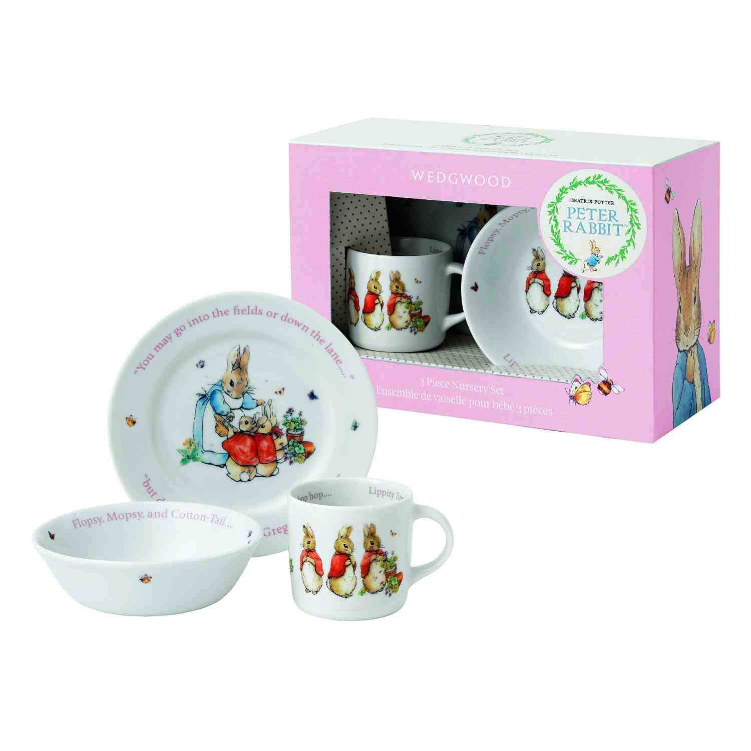 Wedgwood 3pc Peter Rabbit Set | Pink