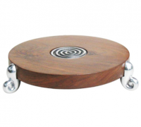 Aluminum & Sheesham Wood Table Trivet