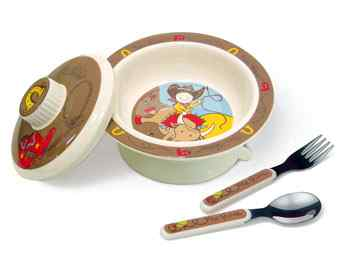 Sugar Booger Yee Haw Melamine Covered Bowl Set