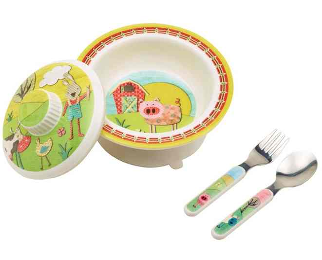 Sugar Booger Farm Melamine Covered Bowl Set