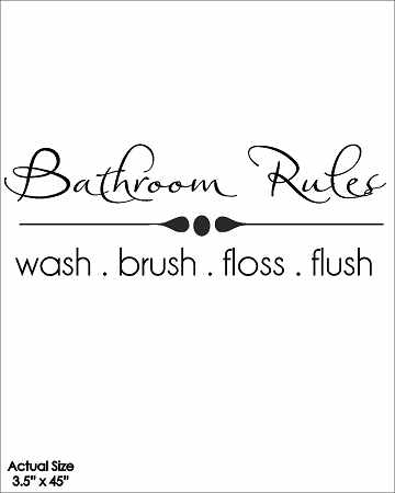 Wall Talk Quotes - Bathroom Rules