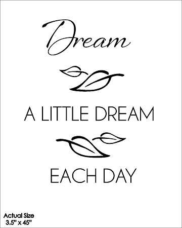 Wall Talk Quotes - Dream a little dream each day