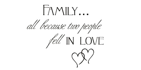 Wall Talk Quotes - Family, all because two people fell in love