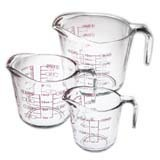 3pc Glass Measuring Cup Box Set