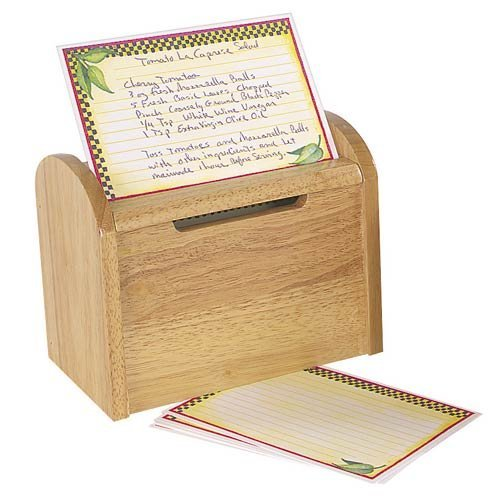 Wooden Recipe Card Box