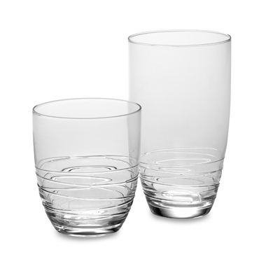 Mikasa Swirl DOF Glass 14oz Set of 4