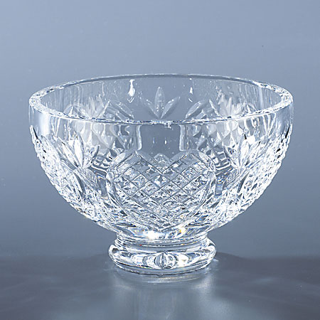 "Waterford Crystal 8"" Footed Wedding Heirloom Bowl"
