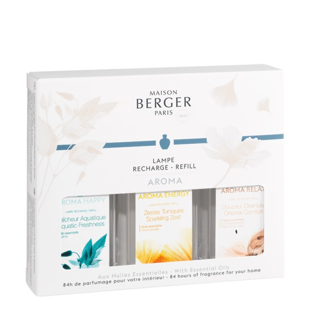 Maison Berger Aroma Trio Pack | Lamp Refills